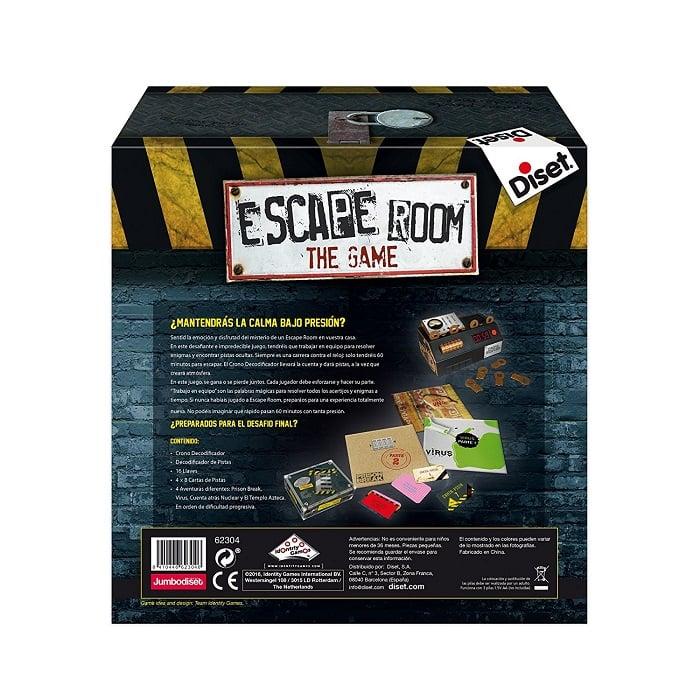 Escape Room The Game parte atras de la caja