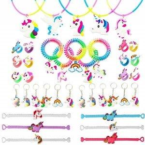 colgantes pulseras anillos unicornios