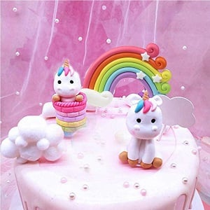 decoracion tarta unicornios