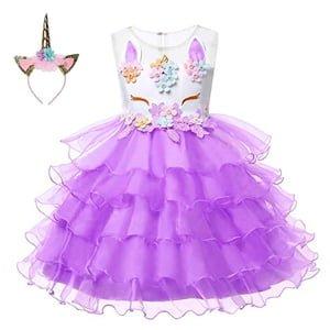 vestido de princesa de unicornio