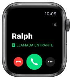 apple watch llamada entrante